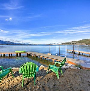 Lakefront Home With Dock And Hot Tub Near Schweitzer! photos Exterior