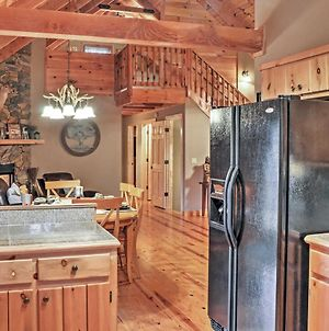 Authentic Creekside Log Cabin With Decks In Ellijay! photos Exterior
