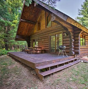 Secluded Log Cabin In Nw Michigan With Fire Pit And Deck photos Exterior