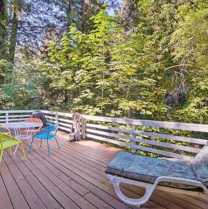 Riverfront Cottage In Redwoods W/ Decks + Beach! photos Exterior