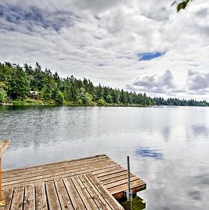 Anderson Island Home With Lakefront Deck, Dock And Canoe photos Exterior