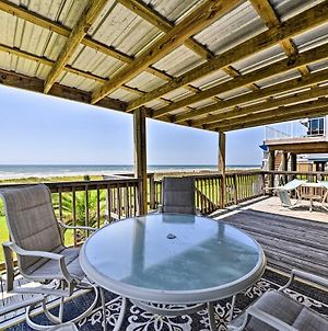 Galveston Beach House With Private Deck And Gulf Views photos Exterior