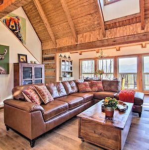 Luxe Gatlinburg Cabin With Panoramic Views And Hot Tub! photos Exterior