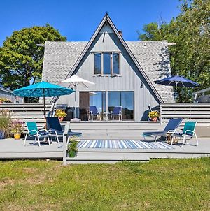 Waterfront Southampton A-Frame Home With Deck photos Exterior