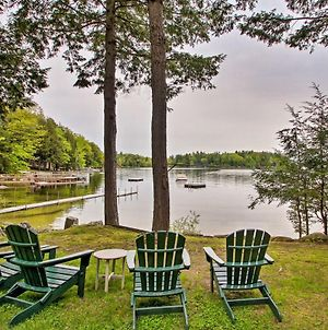 Waterfront Sebago Lake Cottage With Dock And Beach photos Exterior