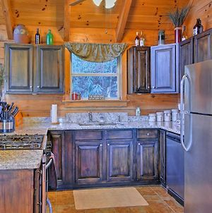Topton Cabin With Smoky Mountain Views And Fire Pit! photos Exterior