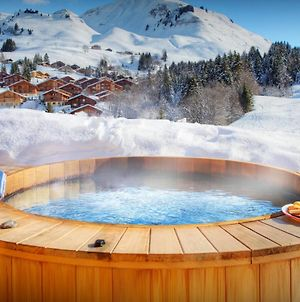 Mountain Holiday Spacious Chalet For 14 With Stunning Piste Views & Hot Tub Kids Friendly photos Exterior