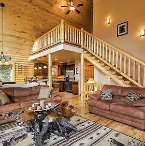Secluded Alma Log Cabin With Deck, Hot Tub And Views! photos Exterior