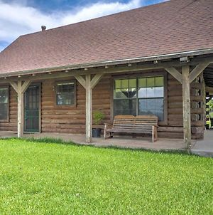 Rustic Carmine Log Cabin With Covered Porch On Farm! photos Exterior