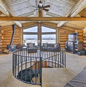 Fairbanks Log Cabin With Waterfront Deck And Views! photos Exterior