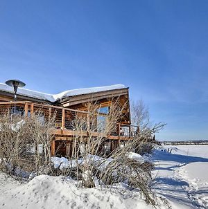 Genuine Log Cabin With Waterfront Deck And Views! photos Exterior