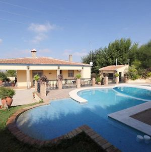 Villa With 4 Bedrooms In Sanlucar La Mayor, With Wonderful Mountain View, Private Pool, Enclosed Garden photos Exterior