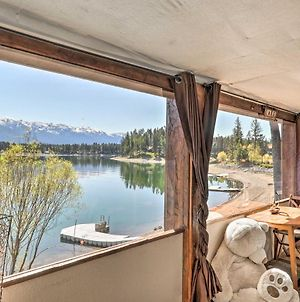 Luxe Lakefront Haven With Mountain Views And Dock photos Exterior