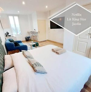 Magnifique Studio Recent Avec Jardin! King Size + Smart Tv + Parking Gratuit photos Exterior