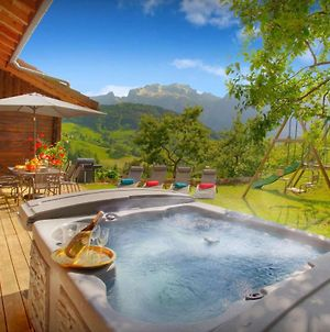 French Alps Chalet On Farm For 8 With Hot Tubstunning Views & Barbecue Garden photos Exterior