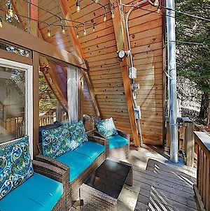 New Listing! Classic A-Frame Home With Hot Tub Cabin photos Exterior